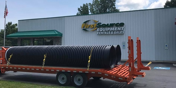 First Source Rental Equipment Corrugated Pipe Sales
